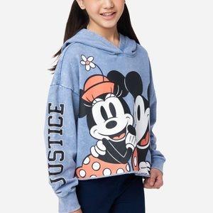 Justice Girls Disney Minnie & Mickey Graphic Crop Hoodie